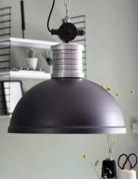 Grote stoere hanglamp zwart Steinhauer Brooklyn