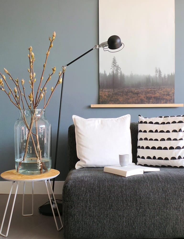 Industriële staande lamp Lumidem Davin zwart 150 cm
