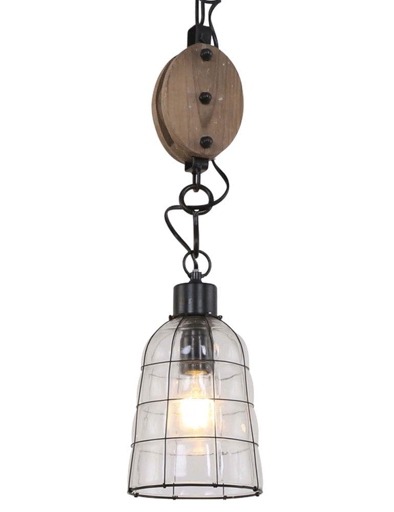 Super Katrol hanglampje Light & Living Jente zwart 15 cm - Directlampen.nl @CS37
