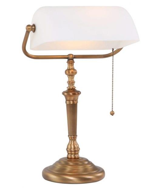 Bronzen bankierslamp klassiek Steinhauer Ancilla