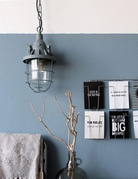 kooilampje grijs industrieel glas