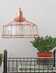 koper-hanglampje