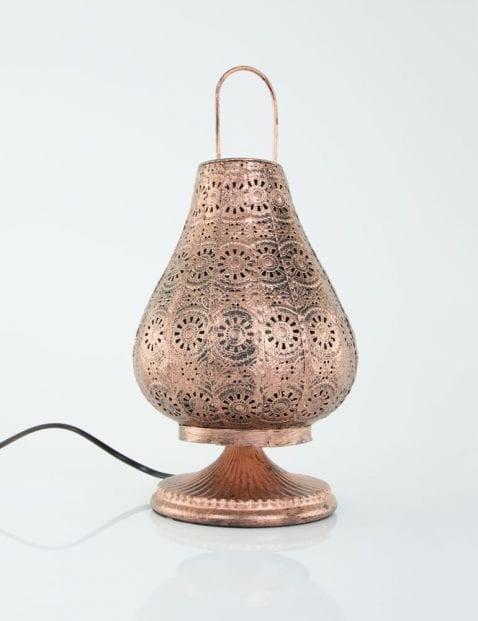 koper-lampje