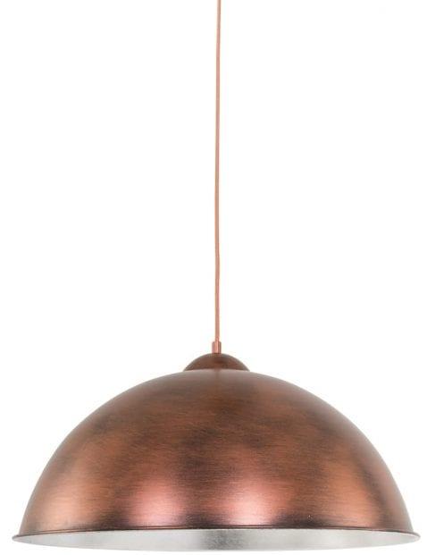 koperen-hanglamp-zilveren-binnenkant