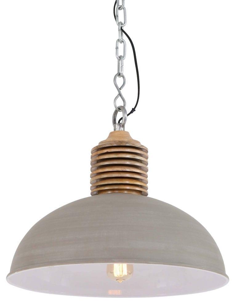 Grote landelijke hanglamp beige kleur for Hanglamp eettafel