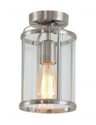 Klassieke lantaarn plafondlamp Steinhauer Pimpernel staal