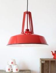 Rode hanglamp met stoere look Mexlite Luna