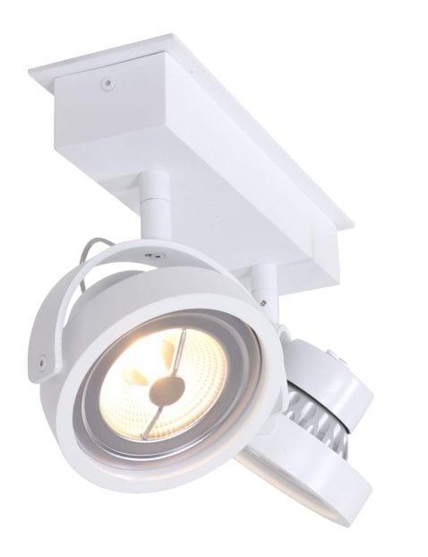Grote LED planfondspot tweelichts Steinhauer Lenox wit