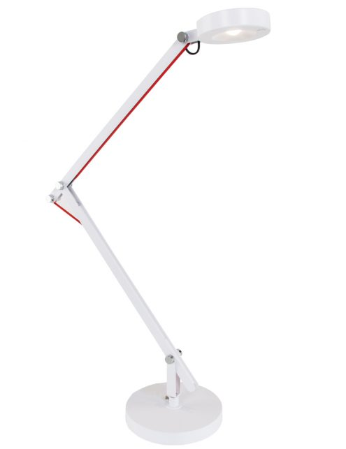 moderne-witte-bureaulamp-rood-snoer
