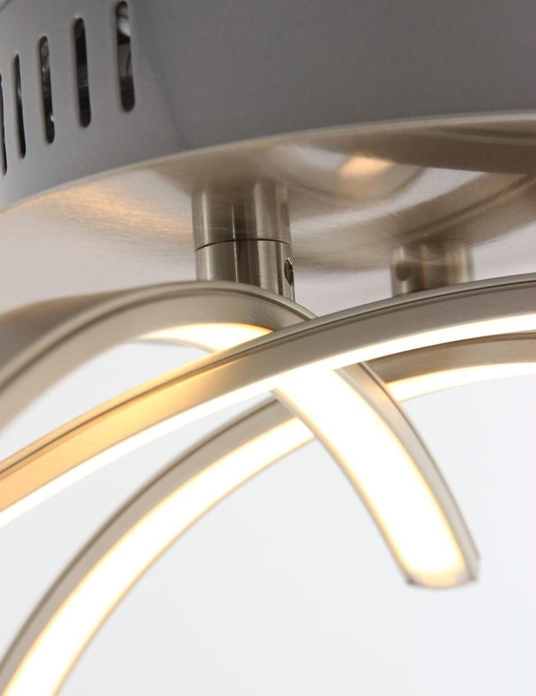 Stijlvolle led plafondlamp freelight casca staal for Freelight lampen