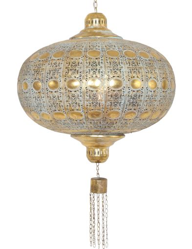 oosterse-hanglamp-goud-met-gaatjes
