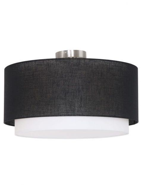 plafondlamp-dubbele-kap-zwart-met-wit-freelight