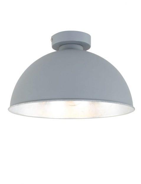plafondlamp-grijs-met-zilveren-binnenzijde