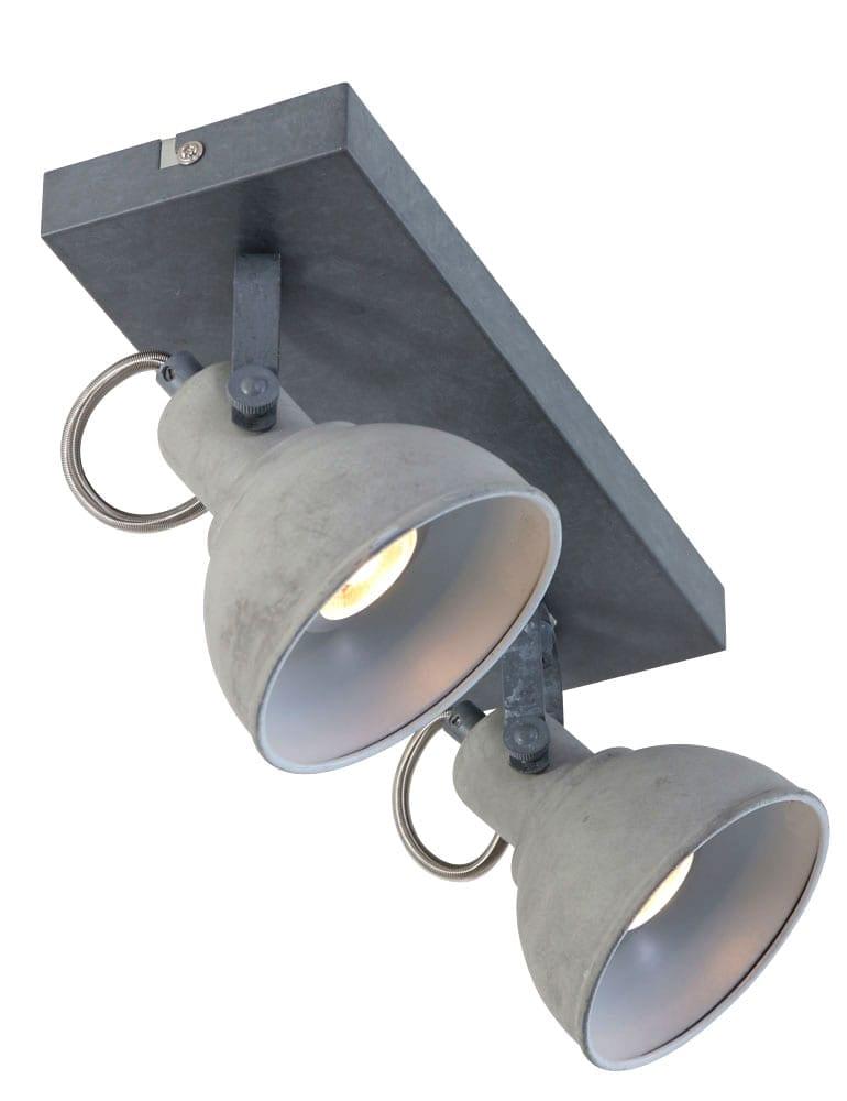 Tweespots plafondlamp freelight santo grijs for Freelight lampen