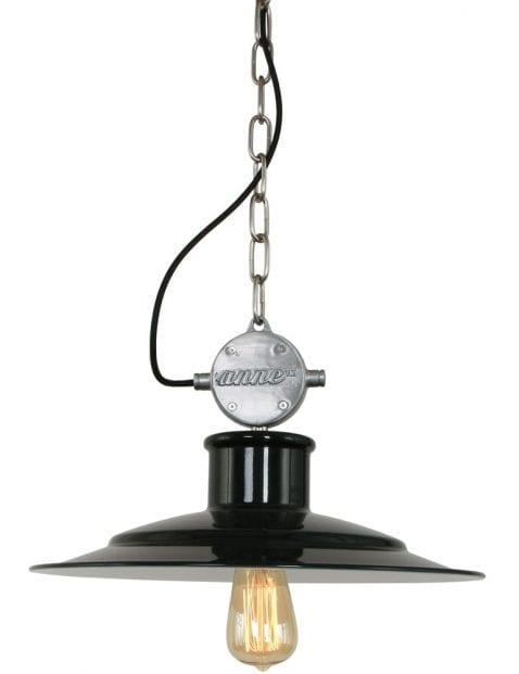 platte-industriele-hanglamp-design-zwart