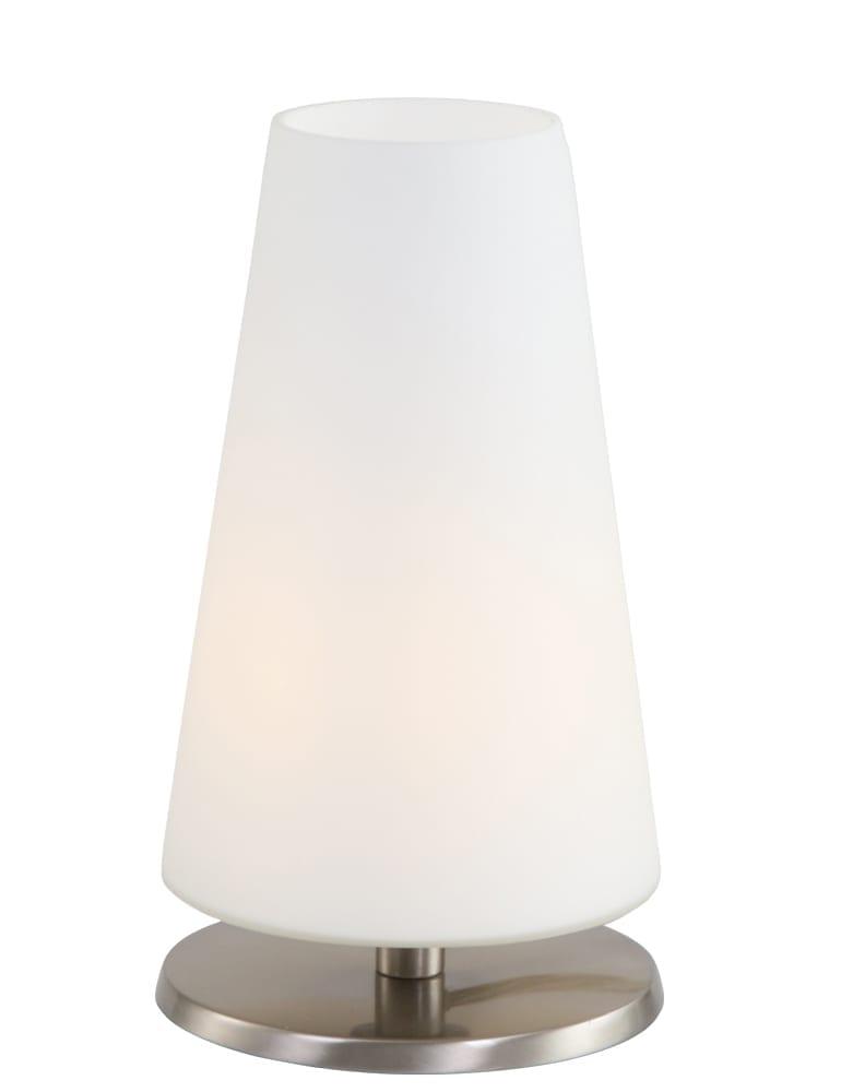 Kleine tafellamp kegelvorm Steinhauer Ancilla staal