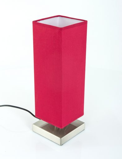 rechthoekige-moderne-tafellamp-rood
