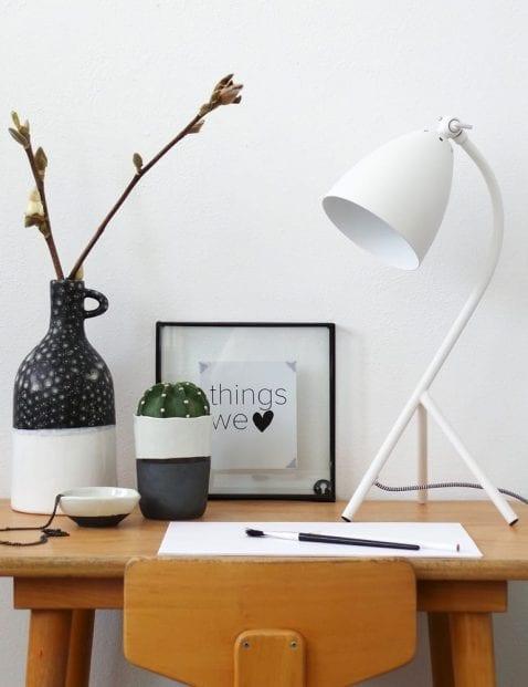 scandinavische tafellamp wit elin