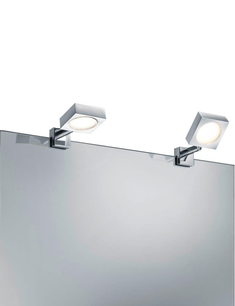 Opzetbare spiegellamp trio leuchten nivel chroomkleurig for Spiegel 01 2018