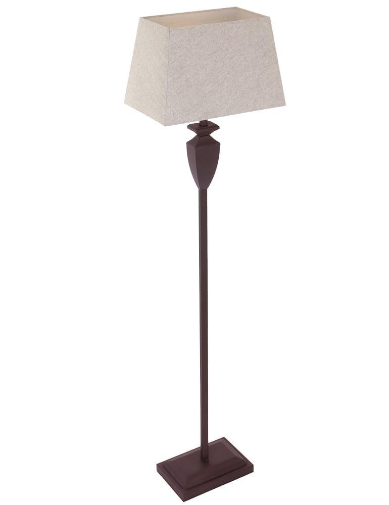 Landelijke vloerlamp steinhauer bloom bruin 160 cm for Landelijke lampen