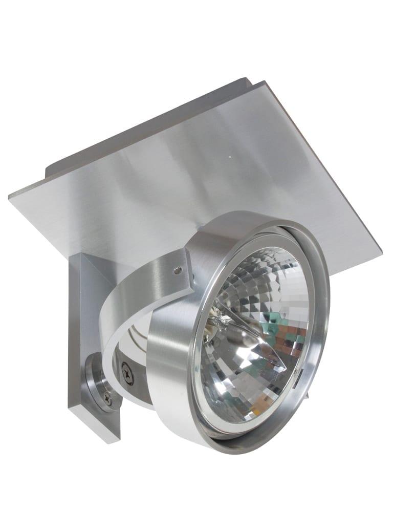 Stalen spot wandlamp industrieel for Industriele spots