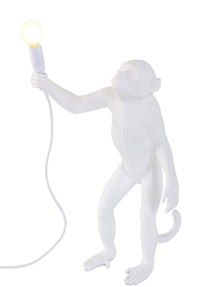 eigenzinnige staande lamp seletti the monkey wit. Black Bedroom Furniture Sets. Home Design Ideas