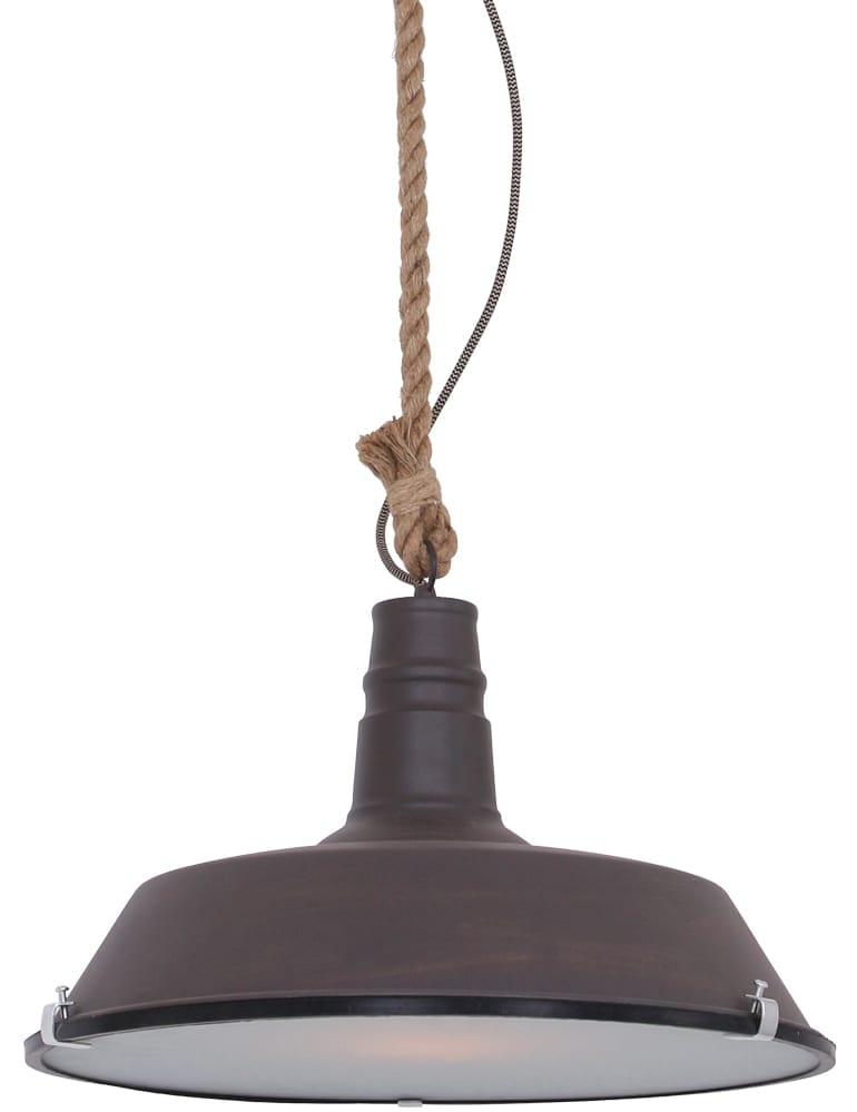 Hanglamp Met Touw.Industriele Hanglamp Lumidem Evali Bruin