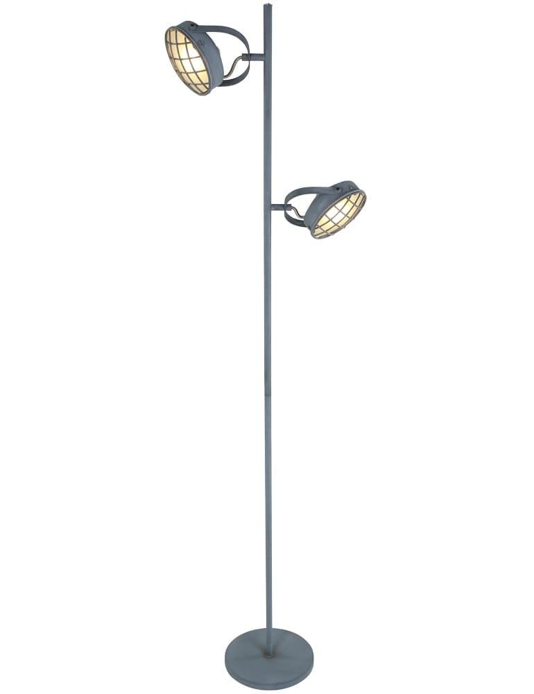 Stoere vloerlamp freelight lazaro olifantgrijs 156 cm for Freelight lampen