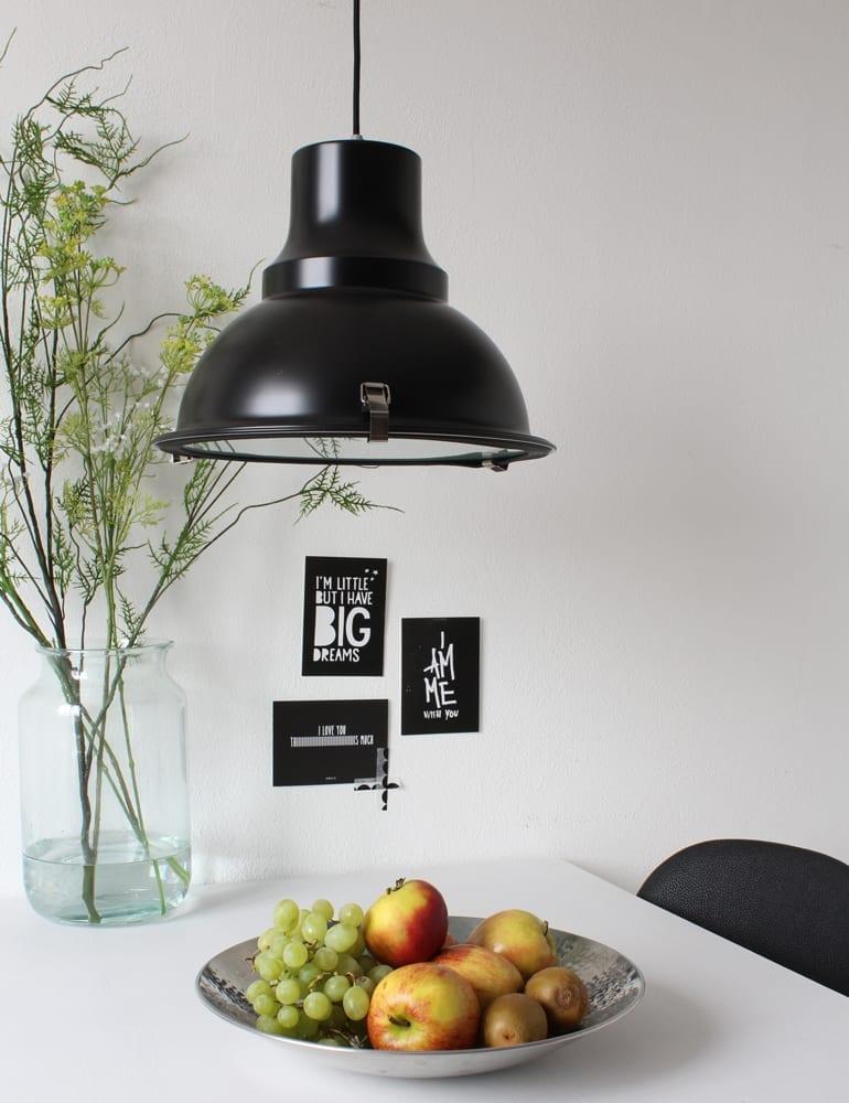 Industri le hanglamp steinhauer met een mat zwarte kleur for Kleine industriele hanglamp