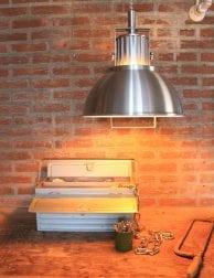 Industriële hanglamp met trekpendel Steinhauer Rococo staal