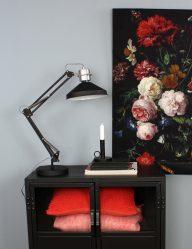 stoere tafellamp zwart