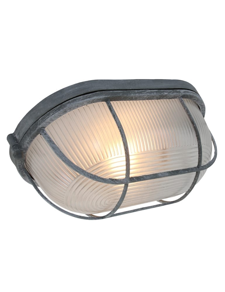 Industri le lamp lumidem lica grijs for Stoere industriele wandlampen