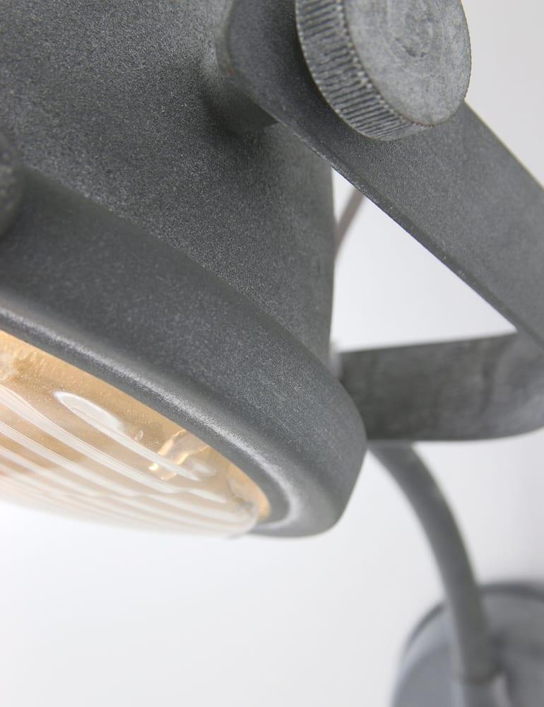 Industri le wandlamp lumidem nova grijs for Stoere wandlamp