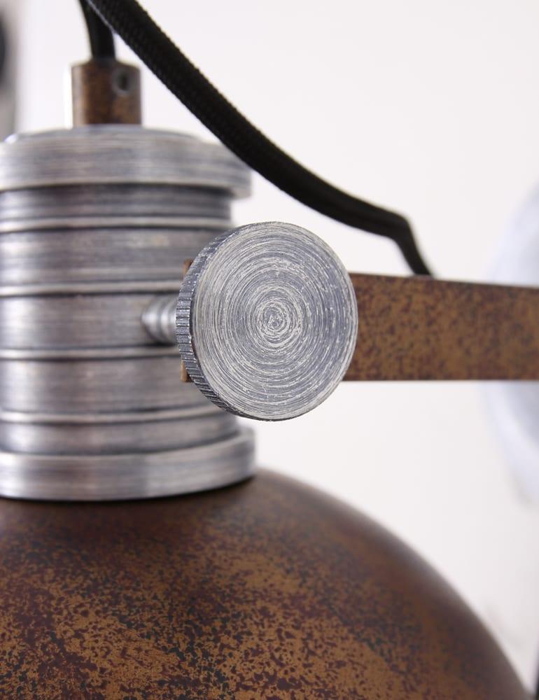 Industri le muurlamp steinhauer brooklyn bruin for Stoere wandlamp