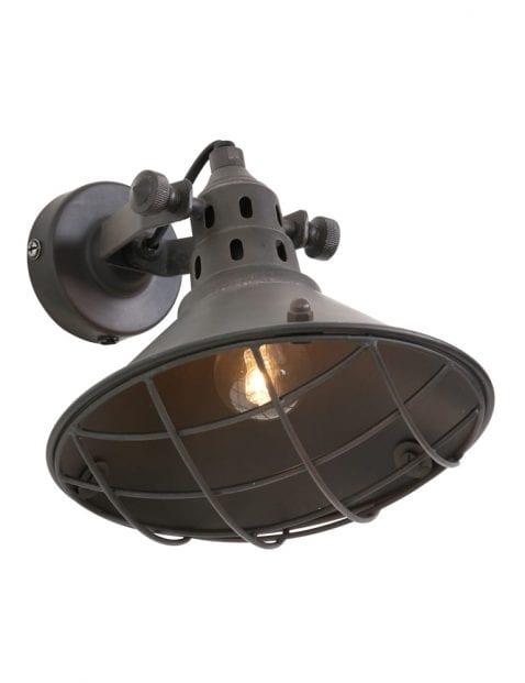stoere-wandlamp-met-raster-bruin