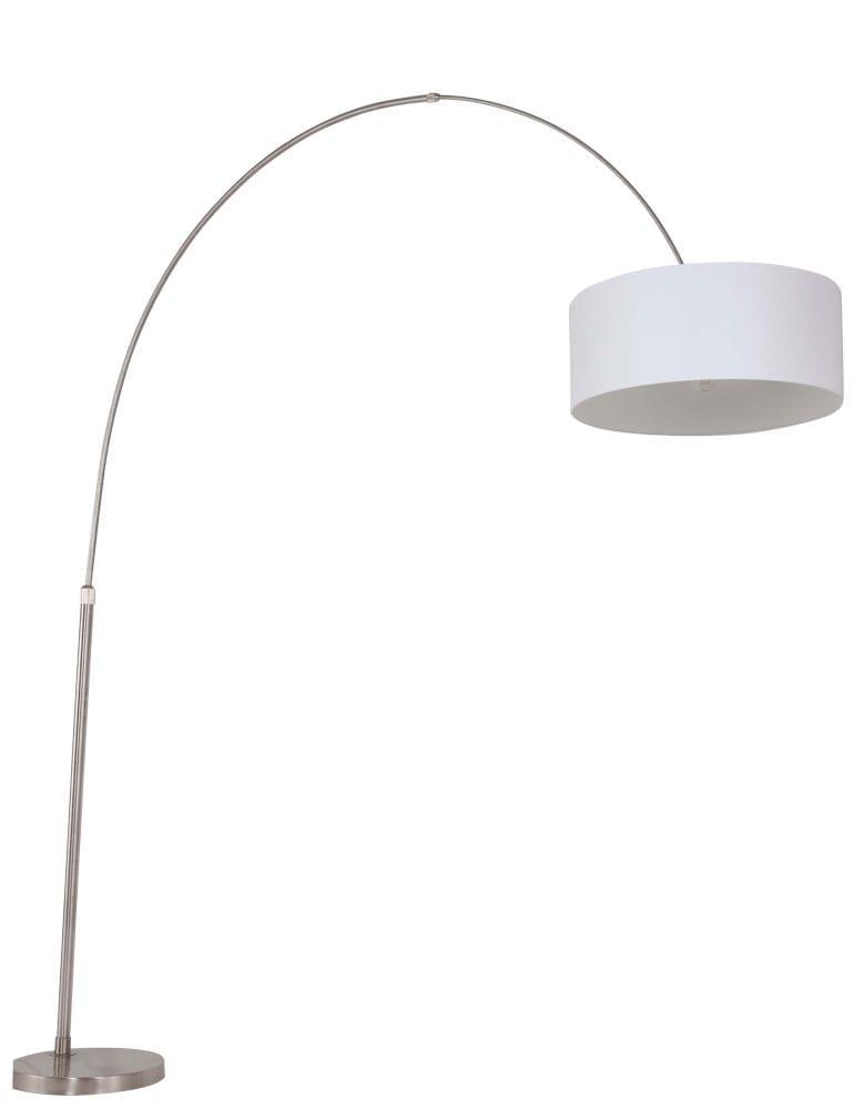 Bekend Boog vloerlamp Steinhauer Stresa wit - Directlampen.nl #QG08