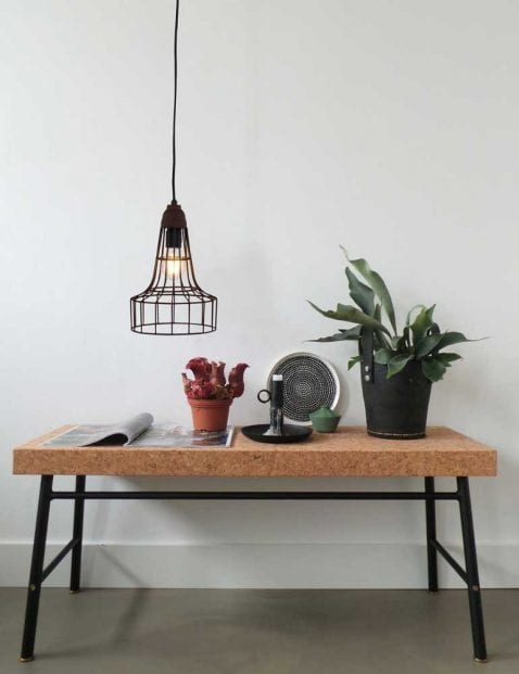 verstelbare bruine hanglamp