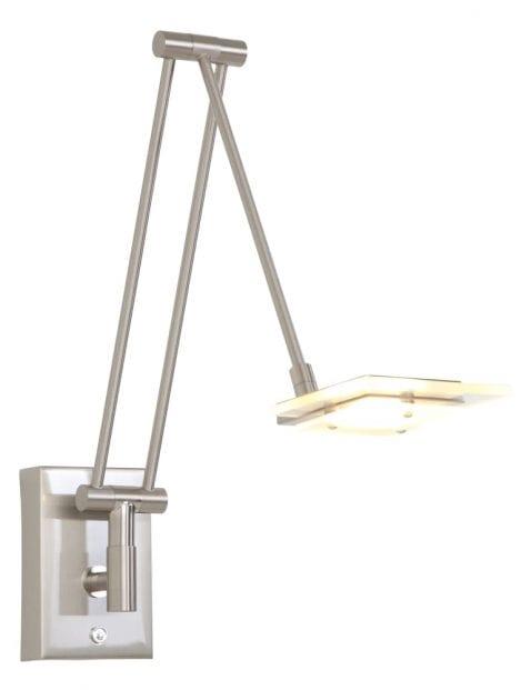 Wandlamp met beweegbare arm Steinhauer Marjoletii staal