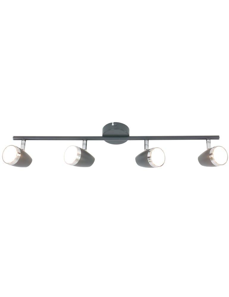 Top Kantelbare vierlichts plafondlamp Globo Nero antraciet IZ82