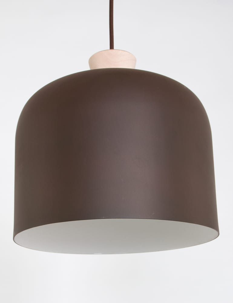 Uitzonderlijk Bruine landelijke hanglamp met hout BL82