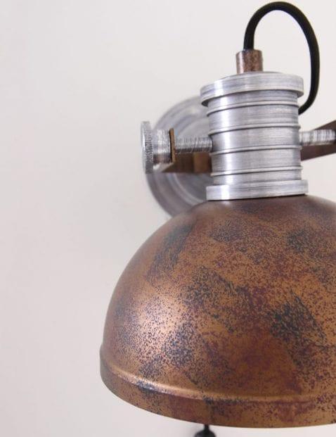 wandlamp-industrieel-kop-bruin