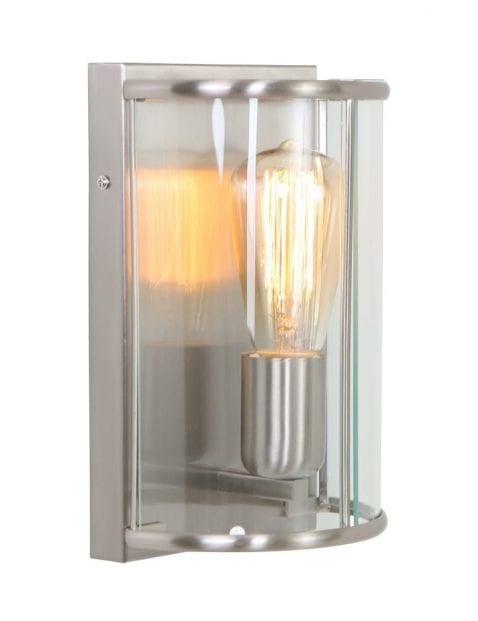 Wandlamp met glas Steinhauer Pimpernel staal