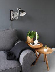 wandlamp-met-verstelbare-arm-glanzend-zwart