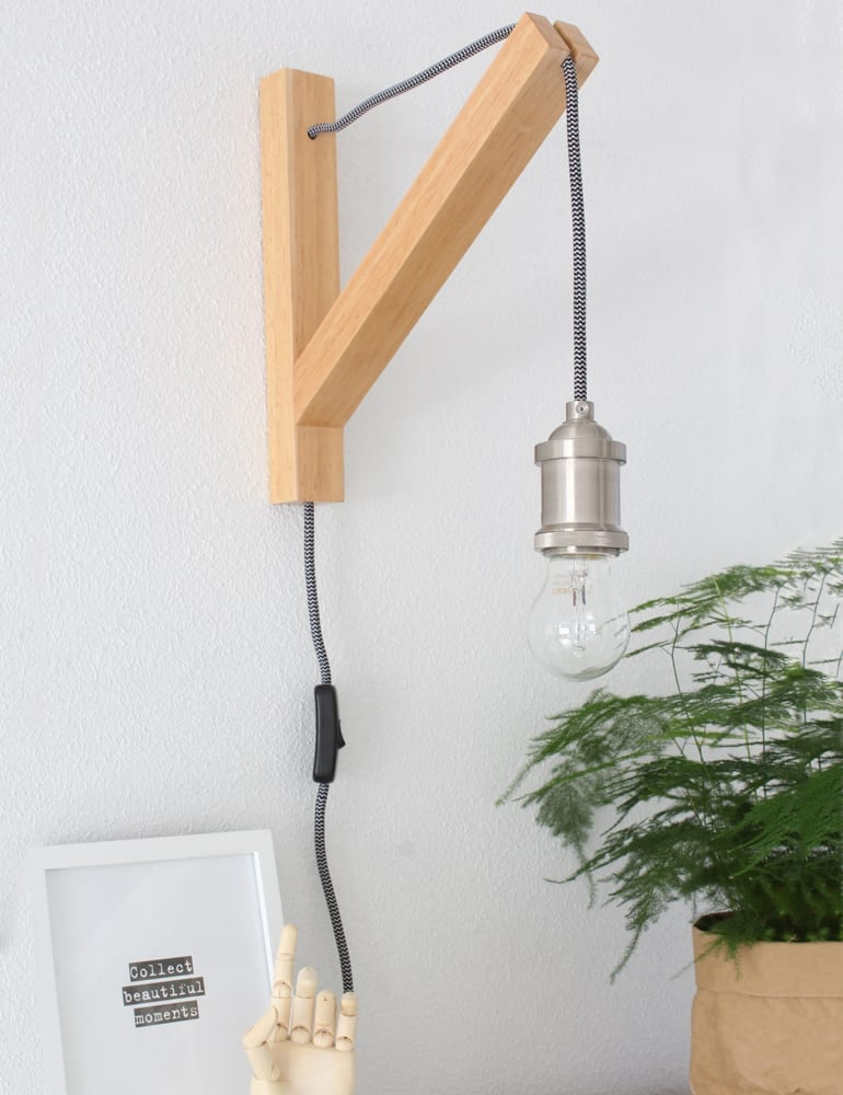 Super Galg wandlamp hout Lumidem Obian #JX35