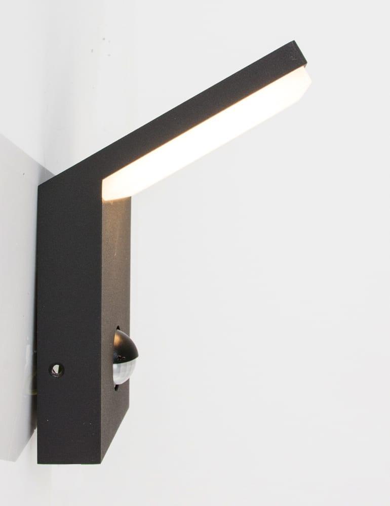 outdoor sensorlamp trio leuchten pearl antraciet. Black Bedroom Furniture Sets. Home Design Ideas