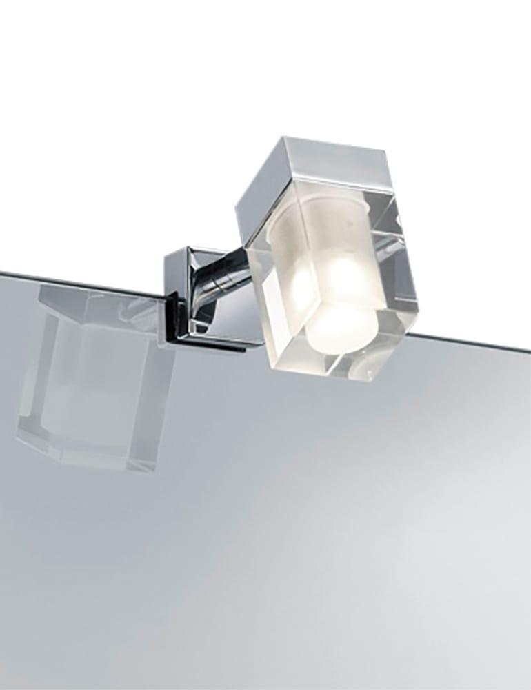 Badkamer led spiegellamp chroom en glas - Directlampen.nl