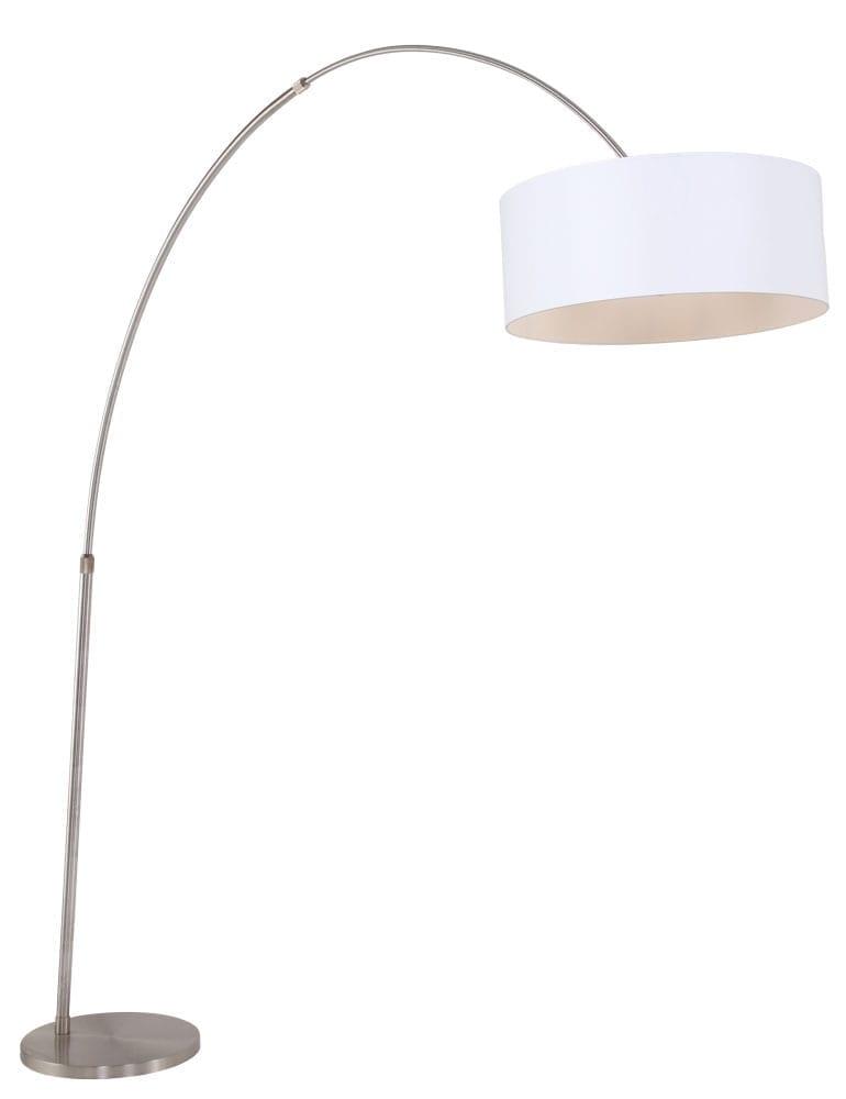 Grote Stalen Boog Met Witte Lampenkap Directlampen Nl