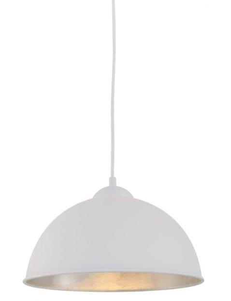 witte-hanglamp-met-zilver-binnenkant