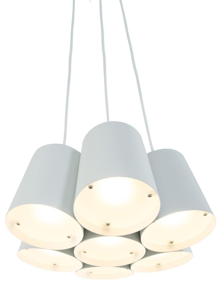 Afbeelding van 7-lichts hanglamp Freelight Aster wit ø40 cm