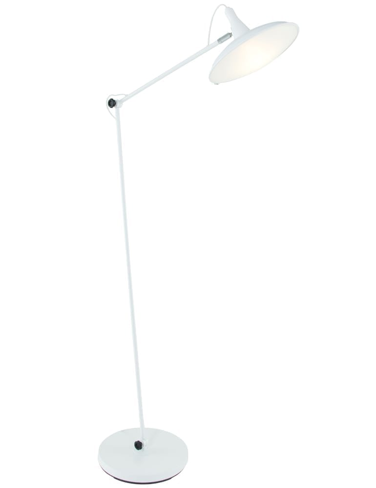 Witte Staande Lamp.Minimalistische Vloerlamp La Forma Glizz Wit 177 Cm